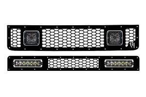 Exterior Accessories - Grilles - Rigid Industries - Rigid Industries LED Grille, Toyota (2005-13) FJ Cruiser Upper & Lower
