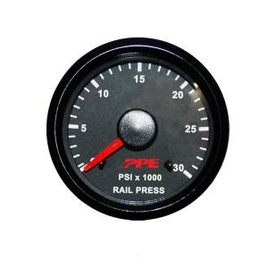"2-1/16"" Gauges - PPE Gauges - Pacific Performance Engineering - PPE Fuel Rail Pressure Gauge, Chevy/GMC (2006-10) 6.6L Duramax LLY/LBZ/LMM"