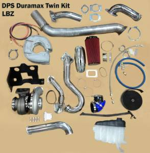 "Turbos/Superchargers & Parts - Performance Twin Turbo Kits - Diesel Power Source - Diesel Power Source Twin Turbo Kit, Chevy/GMC (2006-07) 6.6L Duramax LBZ, Stock Turbo/S475, ""Stocker S475 Kit"""