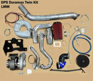"Turbos/Superchargers & Parts - Performance Twin Turbo Kits - Diesel Power Source - Diesel Power Source Twin Turbo Kit, Chevy/GMC (2007.5-10) 6.6L Duramax LMM, Stock Turbo/S475, ""Stocker S475 Kit"""