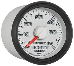 "2-1/16"" Gauges - Auto Meter Dodge 3rd Gen Factory Match Series - Autometer - Auto Meter Dodge 3rd GEN Factory Match, Boost Pressure (8505), 60psi (Mechanical)"
