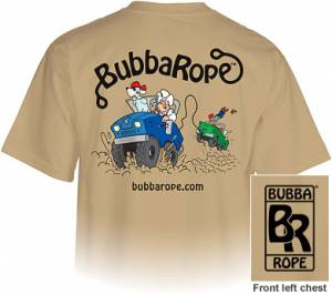 Apparel - Bubba Rope Apparel - Bubba Rope - Bubba Rope T-Shirt, Tan (XXL)