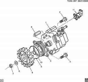 Fuel Injection Parts - Fuel System Misc. Parts - GM Genuine Parts - Fuel Injection Pump Drive Gear, Chevy/GMC (2001-06) 6.6L Duramax LB7 & LLY