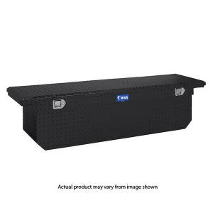 "UWS Tool Boxes - UWS Truck Tool Box, 69""L x 19.25""W x 17.5""H Aluminum Diamond Plate, Single Lid, Low Profile, Deep Box, Black"