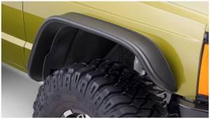 Bushwacker Fender Flares, Jeep (1984-01) Cherokee Front Pair OE Matte Black (Flat Style)
