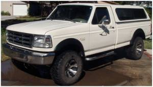 Exterior Accessories - Fender Trim - Bushwacker - Bushwacker Fender Flares, Ford (1992-96) F-150/Bronco (1992-97) F-250/F-350 Set of 4 (Street Flare)