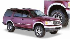 Exterior Accessories - Fender Trim - Bushwacker - Bushwacker Fender Flares, Ford (1997-02) Expedition Set of 4 (Street Flare)