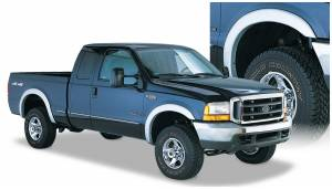 Exterior Accessories - Fender Trim - Bushwacker - Bushwacker Fender Flares, Ford (1999-07) F-250/F-350 Set of 4 (Street Flare)