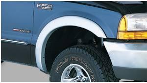 Exterior Accessories - Fender Trim - Bushwacker - Bushwacker Fender Flares, Ford (1999-07) F-250/F-350/F-450/F-550 Front Pair Only (Street Flare)