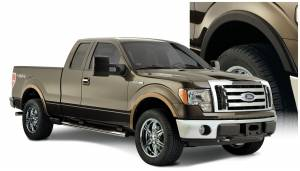 Exterior Accessories - Fender Trim - Bushwacker - Bushwacker Fender Flares, Ford (2009-14) F-150 Set of 4 (Street Flare)