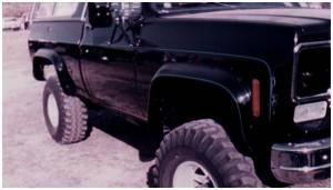 Bushwacker - Bushwacker Fender Flares,Chevy/GMC (1973-86) 1500/2500/3500/Suburban/Blazer/Jimmy (1987-91) 1500/2500/Suburban/Blazer/Jimmy Rear Pair(Cut-Out) - Image 1