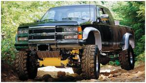 Bushwacker - Bushwacker Fender Flares,Chevy/GMC (1988-99) 1500 (1988-00) 2500 (1992-99) 3500/Suburban/Blazer/Yukon Rear Pair(Cut-Out)