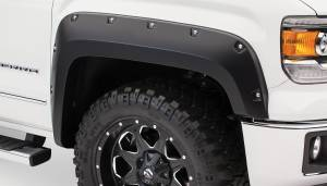 Exterior Accessories - Fender Trim - Bushwacker - Bushwacker Fender Flares, GMC (2014) 1500 Fender Flare Front Pair(Pocket Style)