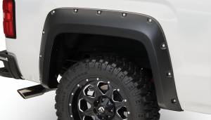 Exterior Accessories - Fender Trim - Bushwacker - Bushwacker Fender Flares, GMC (2014-15) 1500 (2015) 2500/3500 Fender Flare Rear Pair(Pocket Style)