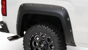 Exterior Accessories - Fender Trim - Bushwacker - Bushwacker Fender Flares, GMC (2014-15) 1500 (2015) 2500/3500 Fender Flare Rear Pair(Pocket Style)