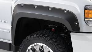 Exterior Accessories - Fender Trim - Bushwacker - Bushwacker Fender Flares, GMC (2015) 2500/3500 Fender Flare Front Pair(Pocket Style)