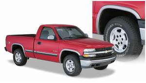 Exterior Accessories - Fender Trim - Bushwacker - Bushwacker Fender Flares, Chevy/GMC (1999-00) 1500/2500 (2001-07) 1500/2500/3500 Set of 4 (Street Flare)