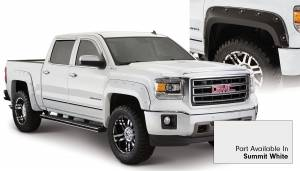 Exterior Accessories - Fender Trim - Bushwacker - Bushwacker Fender Flares, GMC Boss (2014-15) 1500 Fender FlareSet of 4Summit White(Pocket Style)
