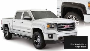 Exterior Accessories - Fender Trim - Bushwacker - Bushwacker Fender Flares, GMC Boss (2014-15) 1500 Fender Flare Set of 4 Onyx Black(Pocket Style)