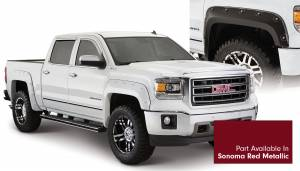 Bushwacker - Bushwacker Fender Flares, GMC Boss (2014-15) 1500 Fender FlareSet of 4Sonoma Red Metallic(Pocket Style)