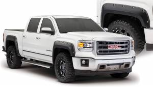 Exterior Accessories - Fender Trim - Bushwacker - Bushwacker Fender Flares, GMC (2014-15) 1500 Fender FlareSet of 4(Pocket Style)
