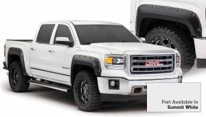 Exterior Accessories - Fender Trim - Bushwacker - Bushwacker Fender Flares, GMC (2014-15) 1500 Fender FlareSet of 4Summit White(Pocket Style)