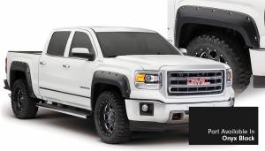 Exterior Accessories - Fender Trim - Bushwacker - Bushwacker Fender Flares, GMC (2014-15) 1500 Fender FlareSet of 4Onyx Black(Pocket Style)