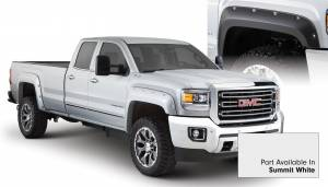 Exterior Accessories - Fender Trim - Bushwacker - Bushwacker Fender Flares, GMC (2015) 2500/3500 Fender FlareSet of 4Summit White(Pocket Style)