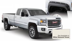 Exterior Accessories - Fender Trim - Bushwacker - Bushwacker Fender Flares, GMC (2015) 2500/3500 Fender FlareSet of 4White Diamond Tricoat(Pocket Style)