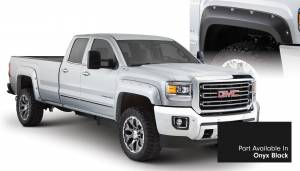 Exterior Accessories - Fender Trim - Bushwacker - Bushwacker Fender Flares, GMC (2015) 2500/3500 Fender FlareSet of 4Onyx Black(Pocket Style)
