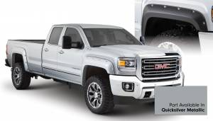Exterior Accessories - Fender Trim - Bushwacker - Bushwacker Fender Flares, GMC (2015) 2500/3500 Fender FlareSet of 4Quicksilver Metallic(Pocket Style)