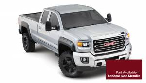 Exterior Accessories - Fender Trim - Bushwacker - Bushwacker Fender Flares, GMC Boss (2015) 2500/3500 Fender FlareSet of 4Sonoma Red Metallic(Pocket Style)