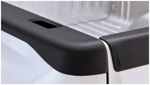 Bed Accessories - Bed Rail/Tailgate Caps - Bushwacker - Bushwacker Ultimate Bed Rail Cap GMC (2007-13) 1500 (2007-14) 2500/3500 Smoothback OE Matte Black
