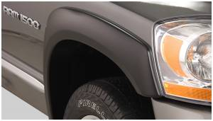 Exterior Accessories - Fender Trim - Bushwacker - Bushwacker Fender Flares, Dodge (2006-08) 1500 (2006-09) 2500/3500 Front Pair(OE Style)