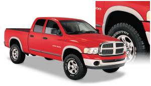 Exterior Accessories - Fender Trim - Bushwacker - Bushwacker Fender Flares, Dodge (2002-08) 1500 (2003-09) /2500/3500 Set of 4 (Street Flare)