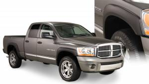 Exterior Accessories - Fender Trim - Bushwacker - Bushwacker Fender Flares, Dodge (2006-08) 1500 (2006-09) 2500/3500 Set of 4(OE Style)