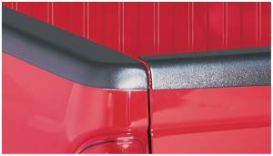 Bed Accessories - Bed Rail/Tailgate Caps - Bushwacker - Bushwacker Ultimate Bed Rail Cap Dodge (1997-04) Dakota Smoothback Cap OE Matte Black