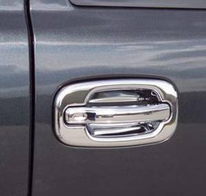 Exterior Accessories - Grab Handles - Putco - Putco Chrome Door Handle Covers, Chevy/GMC (1999-07) 1500 & (01-07) 2500/3500, 2 Door (w/o Passenger Keyhole)