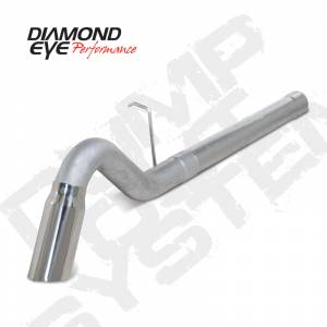 "Exhaust - 4"" Cat/DPF Back Single Exit Exhaust - Diamond Eye Performance - Diamond Eye 4"" D.P.F. Back Exhaust, Chevy/GMC (2011-15) 2500-3500HD, 6.6L Duramax, Single, Aluminized Turn Down"
