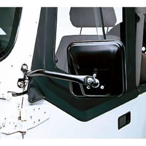 Rugged Ridge CJ-Style Side Mirror Kit, Black (1997-06) Jeep Wrangler TJ