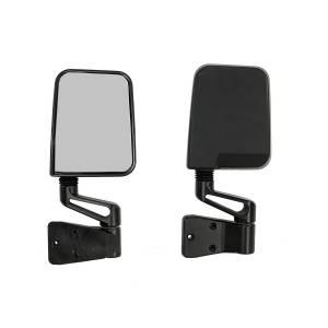 Exterior Accessories - Mirrors - Rugged Ridge - Rugged Ridge Door Mirror Kit, Black (1987-02) Jeep Wrangler