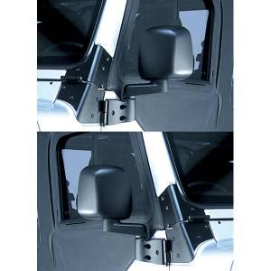 Rugged Ridge Door Mirror Kit, Black (1987-06) Jeep Wrangler