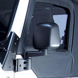 Rugged Ridge Door Mirror, Black, Left Side (1987-06) Jeep Wrangler