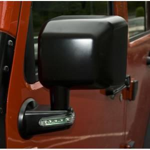 Rugged Ridge Door Mirror with LED Signals, Black, Left (2007-15) Jeep Wrangler JK