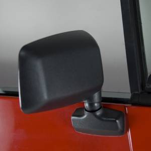 Exterior Accessories - Mirrors - Rugged Ridge - Rugged Ridge Door Mirror, Black, Right Side (1987-95) Jeep Wrangler YJ