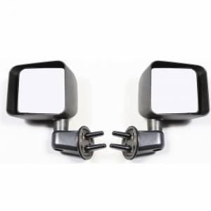 Exterior Accessories - Mirrors - Rugged Ridge - Rugged Ridge Door Mirror Kit, Black (2007-15) Jeep Wrangler JK