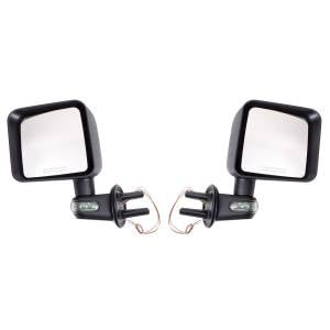 Exterior Accessories - Mirrors - Rugged Ridge - Rugged Ridge Door Mirror Kit with Turn Signals, Black (2007-15) Jeep Wrangler JK