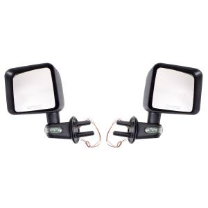 Rugged Ridge Door Mirror Kit with Turn Signals, Black (2007-15) Jeep Wrangler JK