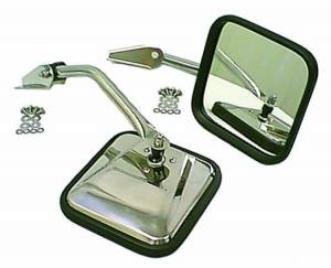Exterior Accessories - Mirrors - Rugged Ridge - Rugged Ridge CJ-Style Side Mirror Kit, Chrome (1955-86) Jeep CJ Models