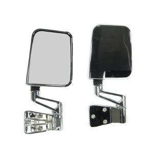 Exterior Accessories - Mirrors - Rugged Ridge - Rugged Ridge Door Mirror Kit, Chrome (1987-02) Jeep Wrangler